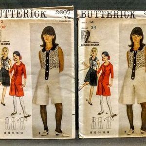 Vintage BUTTERICK #3607 Sewing Pattern/ UNCUT